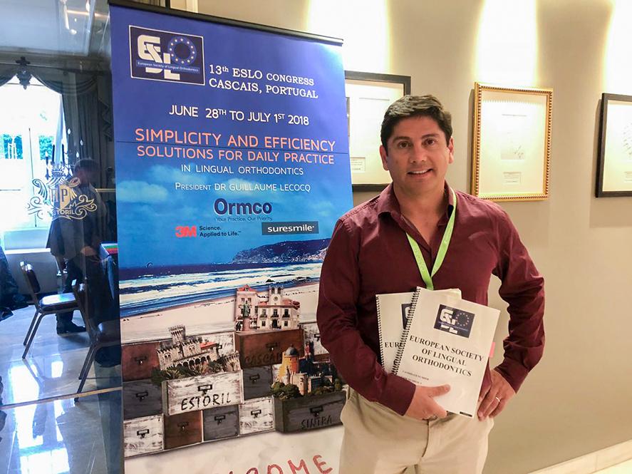 Dr. Christian San Martín: Primer miembro activo de la Sociedad Europea de Ortodoncia Lingual (ESLO)